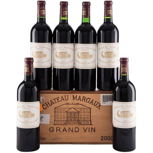 Château Margaux. Cosecha 2000. Grand Vin.  Premier Grand Cru Classé. Margaux. Piezas: 6.