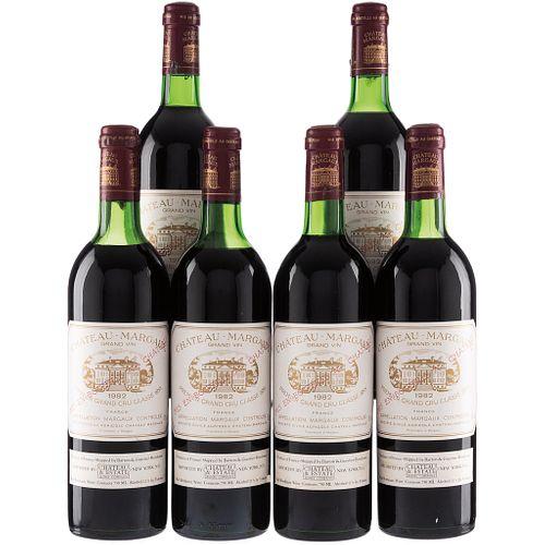 Château Margaux. Cosecha 1982. Grand Vin.  Premier Grand Cru Classé. Margaux. Piezas: 6.