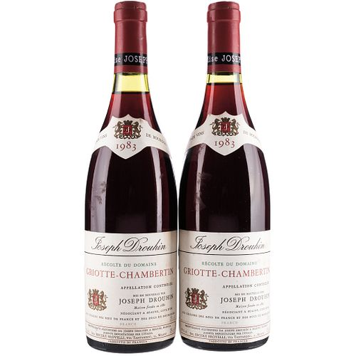 Griotte - Chambertin. Cosecha 1983. Beaune. France. Niveles: a 2.2 y 2.4 cm. Piezas: 2.