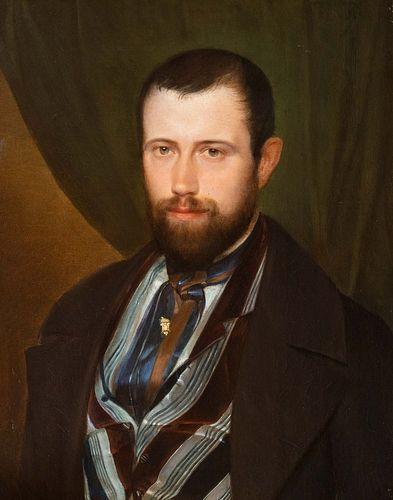 Scuola italiana, secolo XIX - Half-length portrait of a gentleman