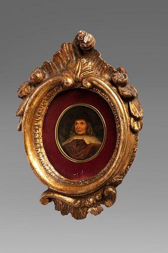 Imitatore di Rembrandt - Half-length portrait of a gentleman with hat