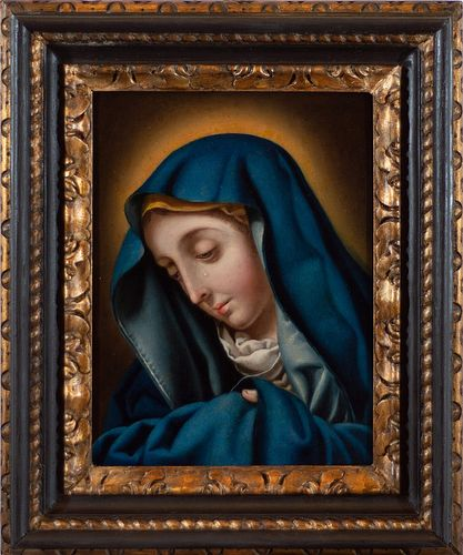 """Scuola fiorentina, secolo XVII, da Carlo Dolci - Our Lady of Sorrows (""""Madonna del Dito"""")"""