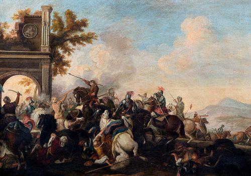 Imitatore di Jacques Courtois, detto il Borgognone - Battle scene