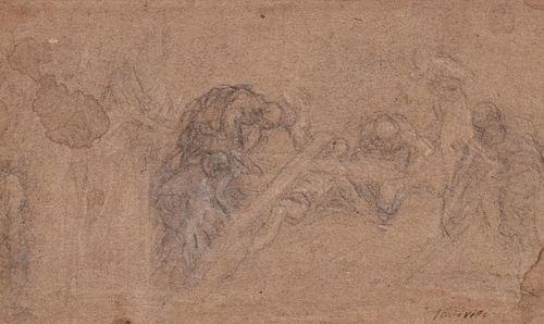 Jacopo Negretti, detto Palma il Giovane (Venezia 1548-Venezia 1628)  - Study for the Finding of the True Cross