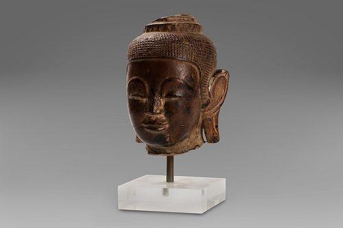 Ancient Thai stone head