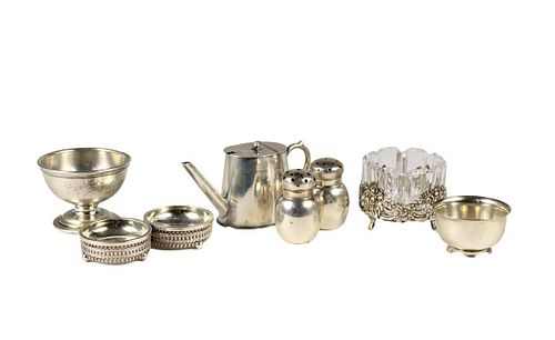 Collection (9) American Sterling Condiment Servers