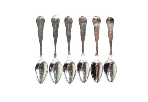 Collection of (6) American Coin Silver Spoons