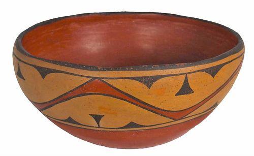Historic Santa Ana or Zia Polychrome Dough Bowl