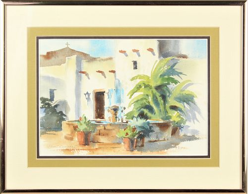 Janet Campbell (B 1935) American, Watercolor