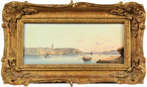 19th C Maltese School Marine Painting,Oil / Board
