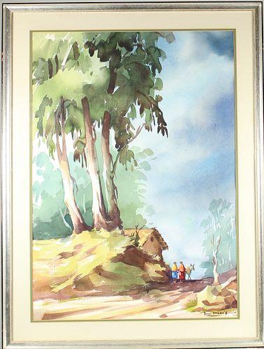 Jorge Imana Garron (b. 1930) Bolivian, Watercolor