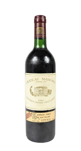 1989 Chateau Margaux, French Red Wine Bottle