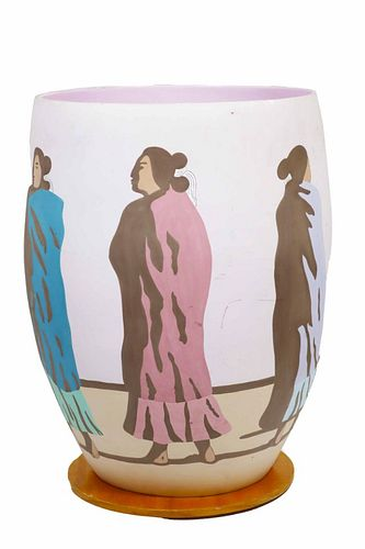Monumental R.C. Gorman Exhibition Pottery Vase