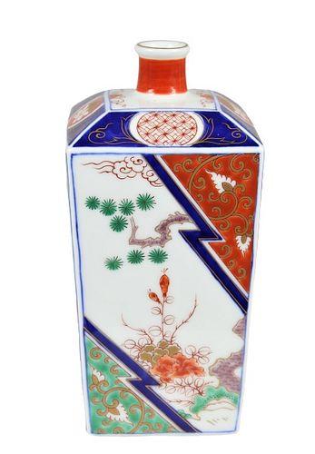 Japanese Imari Bottle Vase, Marked