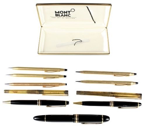 (10) Collection of Montblanc, Dupont & Cross Pens