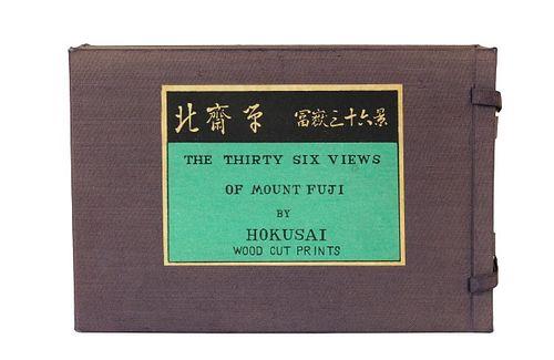 Thirty Six Views of Mount Fuji by Hokusai