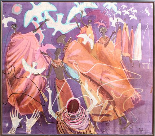 Robin Anderson (Kenya b.1924) Silk Print
