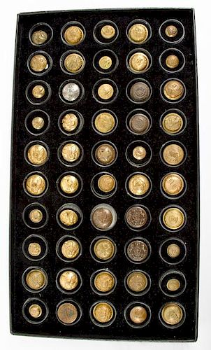 Civil War Uniform Button Collection, Lot of Fifty (50) by Cowan's