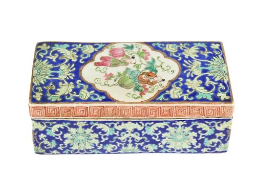 19th C. Chinese Porcelain Covered Box