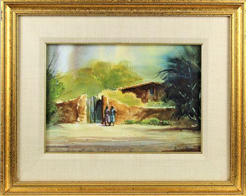 Adrian Hansen (B 1929) American, Watercolor