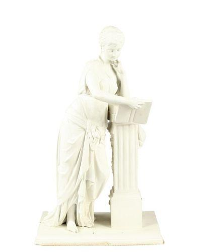 Cast Metal Sculpture of a Woman