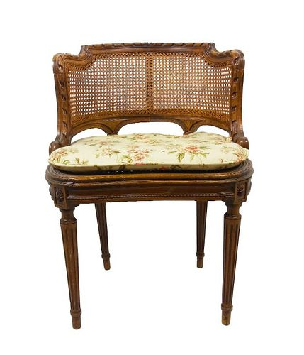Antique French Belle Epoque Cane Chair