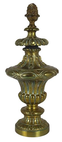 Large Bronze Antique Newell Post Finial