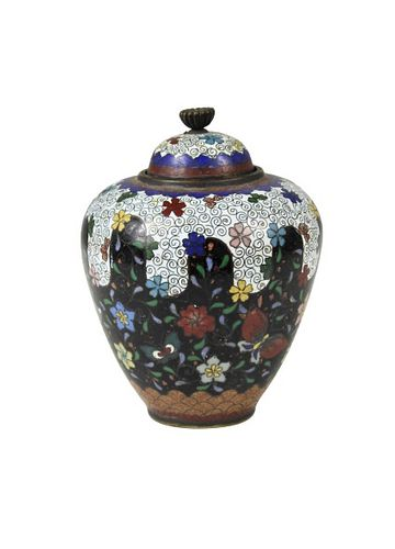 Chinese Meiji Covered Diminutive Cloisonne Vase
