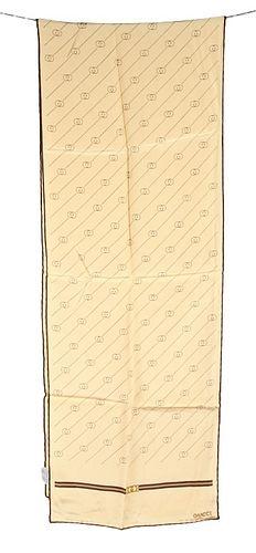 """Vintage """"GG"""" Gucci Morsetto Silk Scarf"""