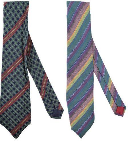(2) Vintage Gucci Men's Ties