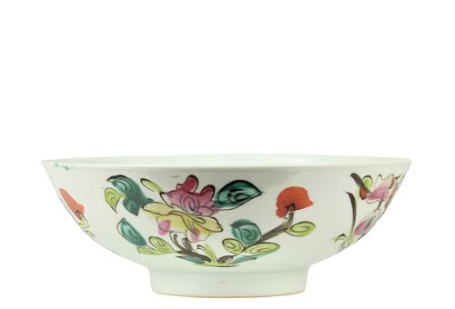 Antique Chinese Porcelain Famille Rose Bowl