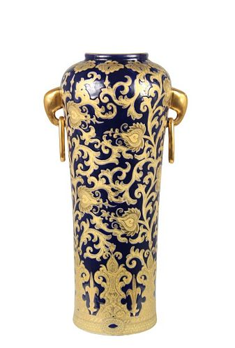 Chinese Porcelain Vase With Elephant Head Handles