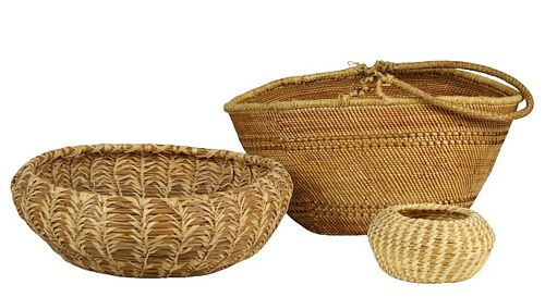 (3) Native American Indian Baskets