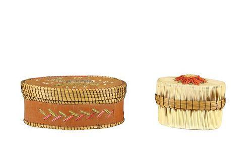 (2) Vintage Native American Indian Baskets