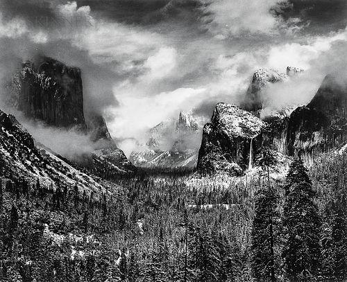Ansel Adams (American, 1902-1984)      Clearing Winter Storm, Yosemite National Park, California