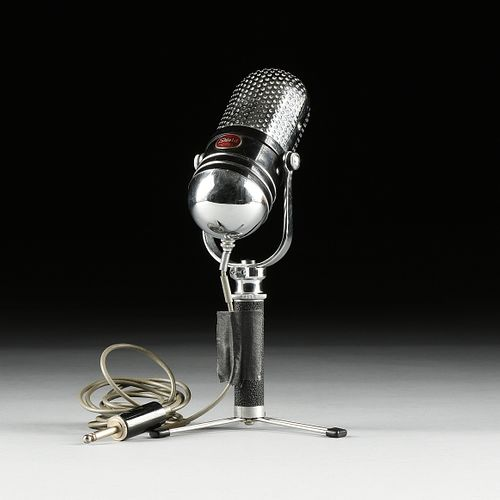 A VINTAGE SHIELD M-80 PILL FORM CHROME MICROPHONE, 1950-1960,