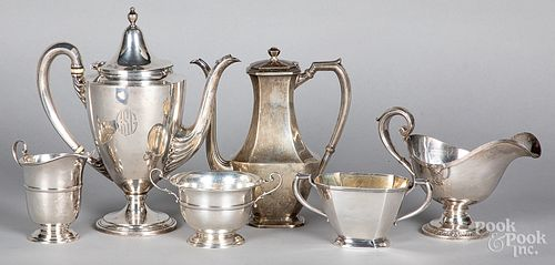 Sterling silver teawares, 48 ozt.