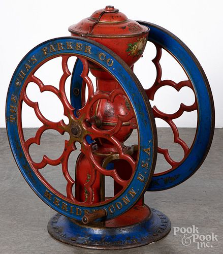 Painted cast iron coffee mill