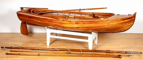 Wooden sailboat yacht tender, built in 1938-1939