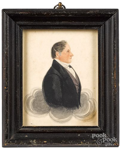 James Ellsworth pair of profile portraits