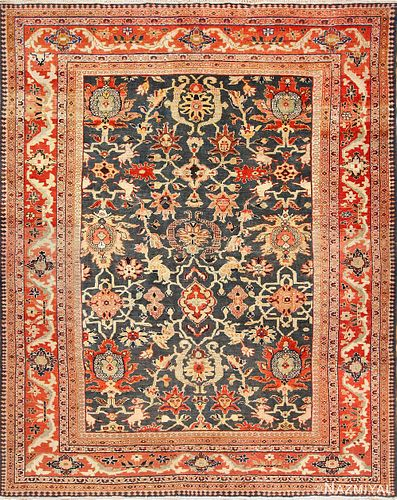 Antique Persian Ziegler Sultanabad carpet , 10 ft 6 in x 13 ft 6 in (3.2 m x 4.11 m)
