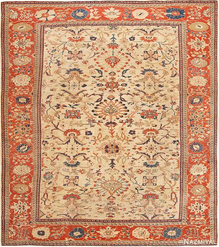 Antique Persian Sultanabad carpet , 11 ft 9 in x 13 ft 9 in (3.58 m x 4.19 m)