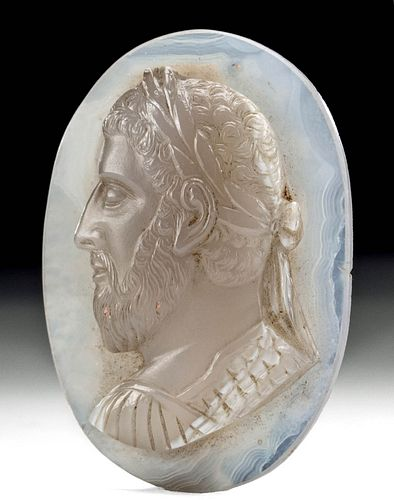 Beautiful Roman Chalcedony Intaglio Pertinex