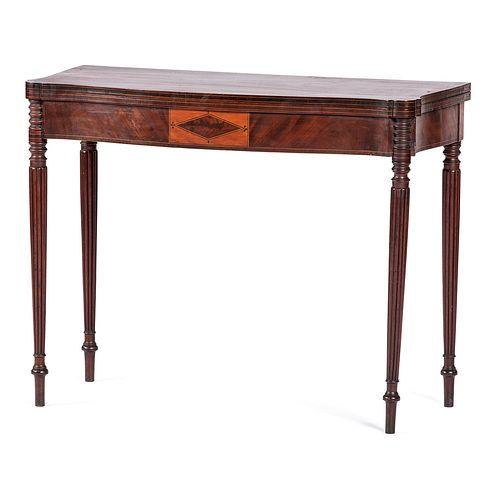 A Federal Inlaid Mahogany Game Table