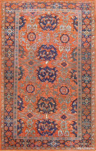 18TH Century Smyrna Turkish Oushak ,10 ft 5 in x 15 ft 5 in (3.17 m x 4.7 m )