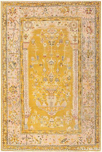 Antique Turkish Oushak carpet , 8 ft 8 in x 13 ft 2 in (2.64 m x 4.01 m)