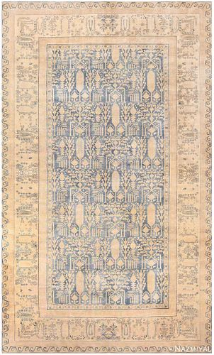 Antique Indian carpet , 10 ft 10 in x 18 ft 6 in (3.3 m x 5.64 m)