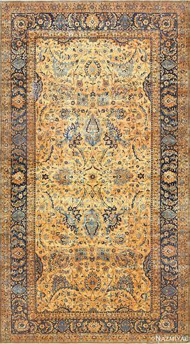 Antique Persian Kerman rug, 12 ft 7 in x 23 ft (3.84 m x 7.01 m)