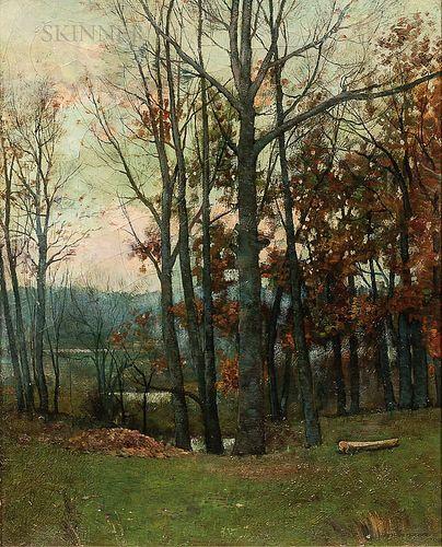 Arthur Hoeber (American, 1854-1915)      October Woodland
