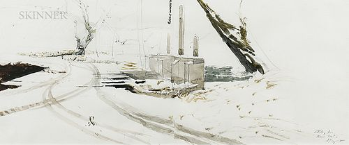 "Andrew Newell Wyeth (American, 1917-2009)      Study for ""Race Gate"""